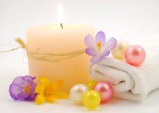 Bath oil spring flowers Stock Photo