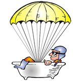 Bath in parachute Royalty Free Stock Photos