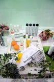 Bath Product Showcase Stock Photography