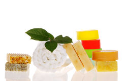 Bath products Stock Photo