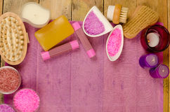 Bath products Royalty Free Stock Images