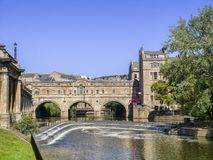 Bath Pulteney Bridge Summer Day Stock Image