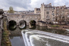 Bath, Pultney Bridge. United Kingdom Stock Images
