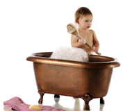Bath-Ready Baby Royalty Free Stock Images