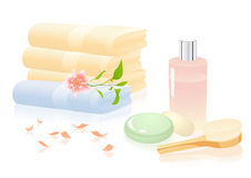 Bath relaxation objects Stock Photo