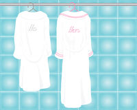 Bath robes Royalty Free Stock Image
