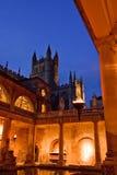 Bath romains au crépuscule Photographie stock libre de droits