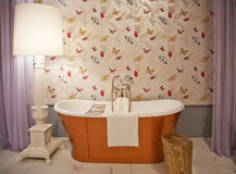Bath room. Design bath room in classic style royalty free stock image