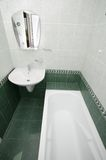 Bath room. Empty bath room in apartment stock photography
