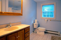 Bath room. With window and sink stock image