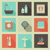 Bath room icons royalty free stock photography