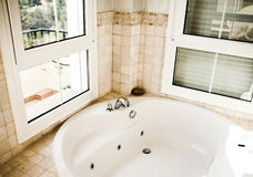 Bath room with jacuzzi Royalty Free Stock Photos