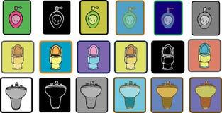 Bath-room pack set 1 Royalty Free Stock Image