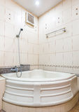 Bath room and shower interior in the bathroom. Bath room and shower interior in the bathroom royalty free stock images