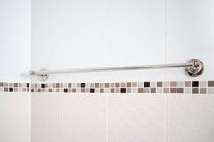 Into the bath room, towel rack Royalty Free Stock Photo