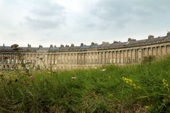 Bath Royal Crescent Royalty Free Stock Images