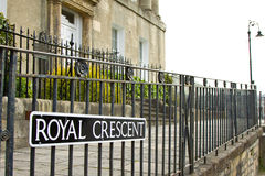 Bath Royal Crescent Royalty Free Stock Photo