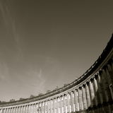 Bath - Royal Crescent. View of the Royal Crescent Stock Images