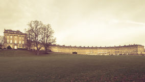 Bath Royal Crescent. A row of 30 terraced houses. Designed by the architect John Wood, the Younger and built between 1767 and 1774 Stock Photography
