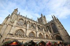 Bath, Royaume-Uni - 6 décembre 2013 : Vue de rue avec l'ab images libres de droits