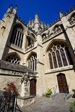 Bath's Abbey Lateral. View royalty free stock photography