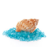 Bath Salt And Shell Royalty Free Stock Photo