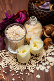 Bath salt for aromatherapy Stock Photo