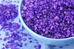 Bath salt in bowl Stock Photography