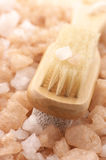 Bath salt and brush Royalty Free Stock Images