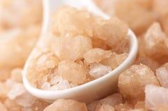 Bath salt close-up Stock Photos