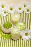 Bath salt and flowers Stock Image