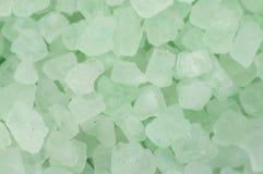Bath Salt Green Background Texture Stock Image
