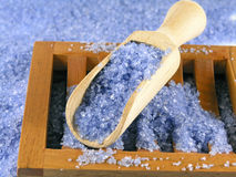 Bath salt - home spa Royalty Free Stock Image