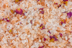 Bath salt and minerals background Royalty Free Stock Photography