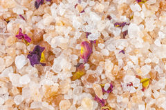 Bath salt and minerals background Stock Images