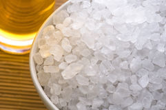 Bath salt and oil Stock Images