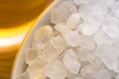 Bath salt and oil Royalty Free Stock Photos