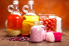 Bath salt and oils Royalty Free Stock Images