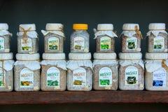 Bath salt from Praid salt mine Royalty Free Stock Images