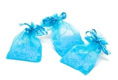 Bath salt in sack Royalty Free Stock Image