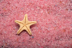 Bath salt and sea star Royalty Free Stock Photography