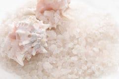 Bath Salt and Seashells Royalty Free Stock Photography