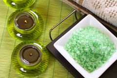 bath salt spa στοκ φωτογραφία με δικαίωμα ελεύθερης χρήσης