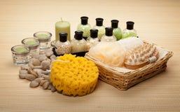 Bath salt sponge and massage tools Stock Photography