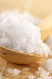 Bath salt in spoon Royalty Free Stock Photo