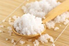 Bath salt in spoon Stock Photo
