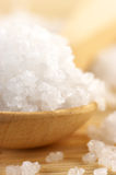 Bath salt in spoon Stock Images