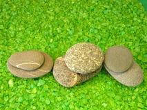 Bath salt and stones Stock Photography