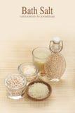 Bath salt - vanila minerals Royalty Free Stock Images