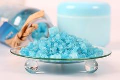 Bath salt for wellness. Still life - Bath salt for wellness and spa Stock Images